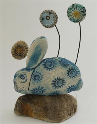 Rabbit and tiny flowers