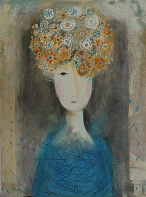 Flower Head Girl