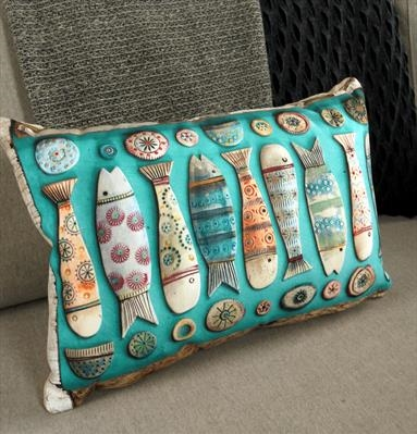 Fishes ii Cushion