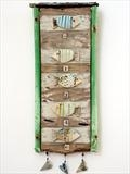12345 by Shirley Vauvelle, Ceramics, earthernware,driftwood,collage