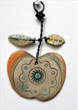 Apple by Shirley Vauvelle, Ceramics, Earthenware and wire
