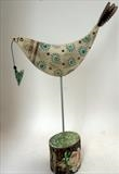 Big Bird and Heart by Shirley Vauvelle, Ceramics