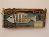 Big fish by Shirley Vauvelle, Ceramics, driftwood