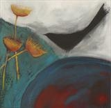 Blackbird by Shirley Vauvelle, Painting, Acrylic on canvas