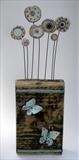 Butterflies by Shirley Vauvelle, Sculpture, Earthenware driftwood