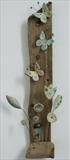 Butterfly and flowers by Shirley Vauvelle, Ceramics, earthenware and driftwood