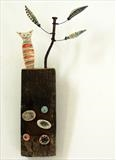 Cat and Little Tree by Shirley Vauvelle, Ceramics