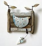 Fine Day by Shirley Vauvelle, Sculpture, Eathernware driftwood