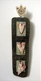 Love Token i by Shirley Vauvelle, Ceramics, Earthenware, driftwood,vintage map