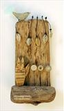 On Friday Mornings by Shirley Vauvelle, Ceramics, Earthenware,driftwood and wire