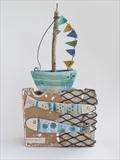 Rain then showers, Boat by Shirley Vauvelle, Sculpture