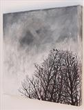 Rooks Roosting by Shirley Vauvelle, Painting, Acrylic on canvas