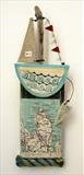 Sailing 10/5 by Shirley Vauvelle, Ceramics, Earthenware. driftwood,vintage map