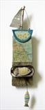 Sailing East Coast by Shirley Vauvelle, Ceramics, Earthenware Driftwood Vintage map