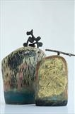 Sundown (back) Contained Quietude (front) by Shirley Vauvelle, Ceramics, Stoneware