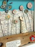 Wanderlust by Shirley Vauvelle, Ceramics, Earthenware. driftwood,vintage map