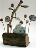 Woodland Rabbit by Shirley Vauvelle, Sculpture, Earthenware driftwood