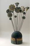 Beyond Measure by Shirley Vauvelle, Sculpture, Earthenware driftwood and vintage tape measure