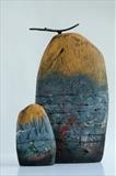 Deep Water Stone & Salient Stone by Shirley Vauvelle, Sculpture, Fired Clay