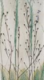 Plaque 2 Sea kale Seed Heads by Shirley Vauvelle, Ceramics, Eartheware and Driftwood