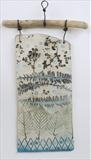 Plaque 4 Achillea Leaves by Shirley Vauvelle, Ceramics, Earthenware and driftwood