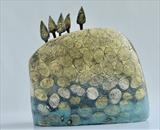 The Decent by Shirley Vauvelle, Sculpture, Stoneware