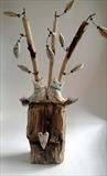 The Two of Us by Shirley Vauvelle, Sculpture, Ceramic driftwood