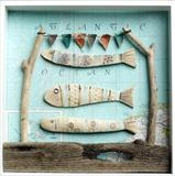 We love the Atlantic by Shirley Vauvelle, Ceramics, Earthenware ,vintage map and driftwood