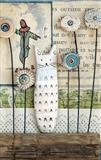 White Cat by Shirley Vauvelle, Ceramics