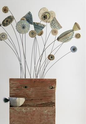 Autumn Stems by Shirley Vauvelle, Sculpture